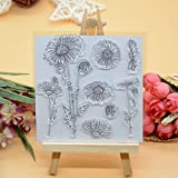 Welcome to Joyful Home 1pc Flower Design Rubber Clear Stamp for Card Making Decoration and Scrapbooking