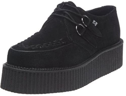 9a294d8ac4c19 TUK A7757 TUK Shoes Creeper Mondo Hi Sole Creepers Black Suede Lace Up  Brothel Shoe