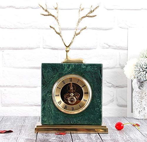 北欧スタイルの卓上装飾大理石の置時計リビングルームの寝室のサイレントシートクロック純粋な銅の装飾品芸術工芸品 作りがいい