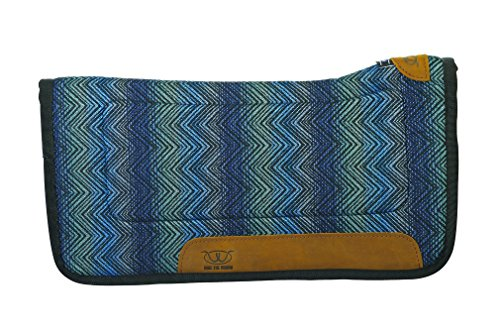 (Weaver Leather All Purpose Contoured Saddle Pad with Tacky-Tack Bottom, Blue)