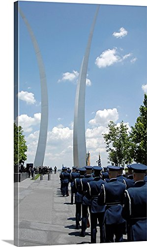United States Air Force Honor Guard (Stocktrek Images Gallery-Wrapped Canvas entitled United States Honor Guards stand in formation at the Air Force)