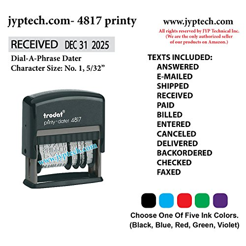 2000 Self Plus Inking (JYP 4817 Self Inking Rubber Stamp w. Dial-A-Phrase Dater)