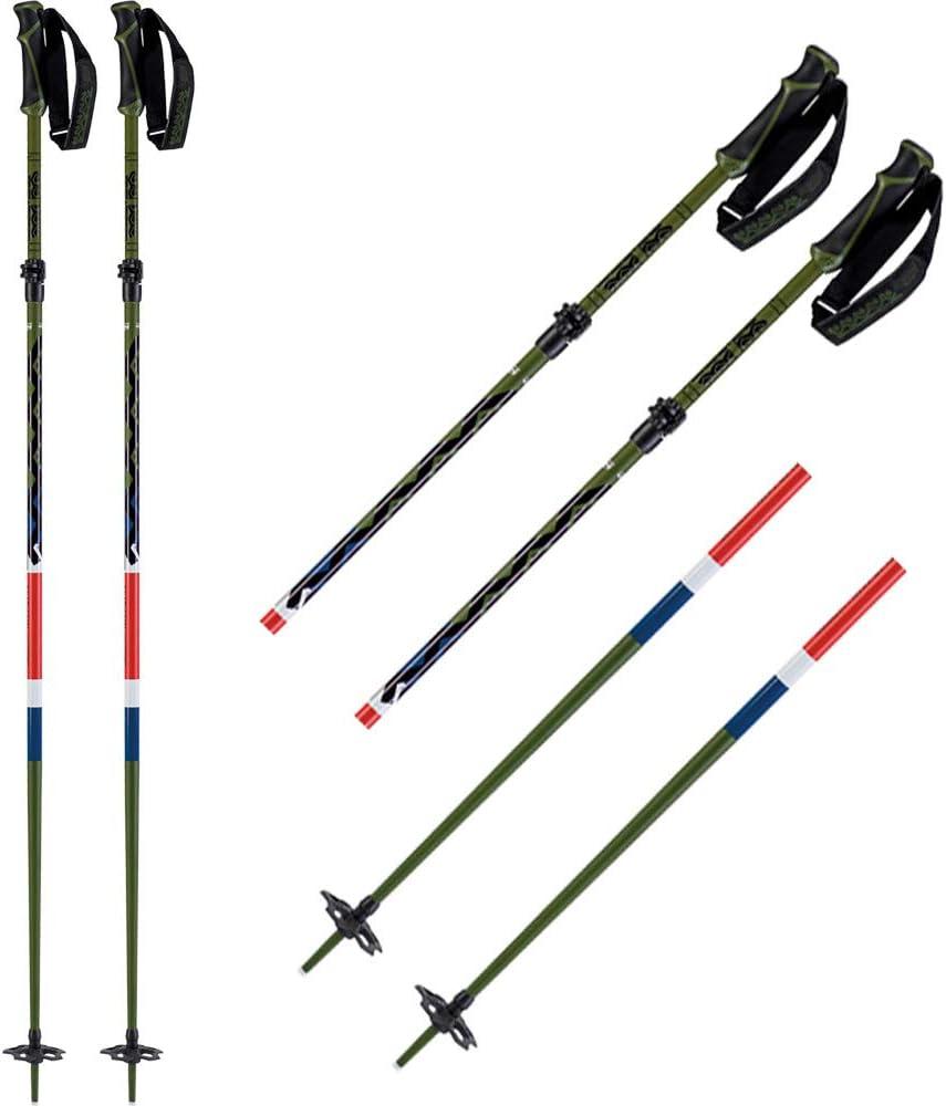K2 Skis Freeride FLIPJAW Olive-1SIZ B/âtons de Ski pour Homme Olive-10D3400.1.1.1SIZ Vert Olive 1 Taille