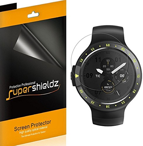 [6-Pack] Supershieldz for Ticwatch E (Express) Screen Protector, High Definition Clear Shield, Lifetime Replacements Warranty