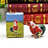 Amyove Clockwork Rooster Classical Clockwork Iron Jumping Rooster Kids Toy Birthday Gift colour:random delivered Best Gift for Kids