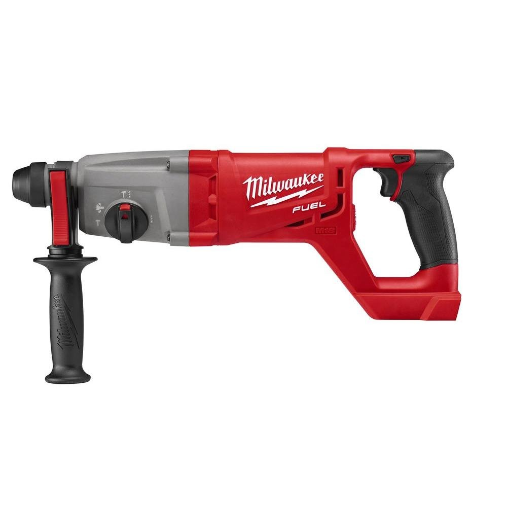 Milwaukee Electric Tool 2713-20 Milwaukee M18 Fuel 18V Lithium-Ion Brushless Cordless SDS Plus D-Handle Rotary Hammer, 1'', Bare Tool, Plastic, 17.63'' x 3.85'' x 6.61''