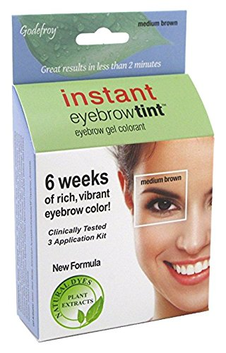GODEFROY Instant Eyebrow Tint 3 Applications ,Medium Brown