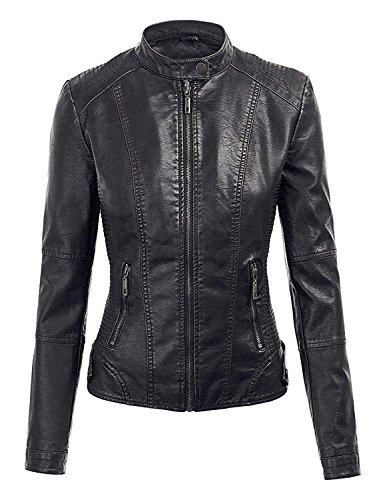 E Genius Donna Leather Piumino Giacca Real rYFrqpwx