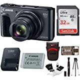 Canon Powershot SX730 Digital Camera (Black) + 32GB Card + Bundle