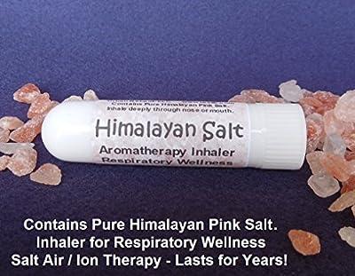 HIMALAYAN SALT AIR Inhaler. Respiratory Wellness. Sinus & Lung Relief. Breathe SALT AIR anywhere! Dry Aromatherapy. Healing Ions. NO scent! Handy Portable NETI Pot! Pocket or Purse Stick. 100% Natural. Contains pure Himalayan Pink Salt. Inhale Deeply for
