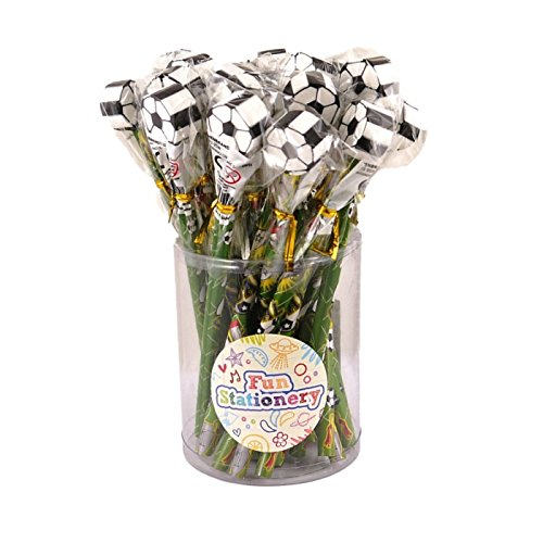 Wholesale Bulk Buy 24 x Football Pencils With Novelty Erasers Toppers