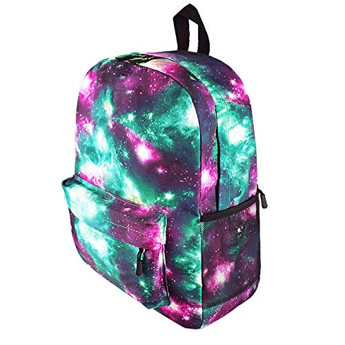 Obvie School Backpack Cool Luminous Schoolbag Unisex Backpack for Teens (Green 600D -