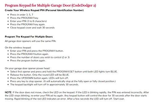 Overhead Door - Wireless Garage Door Opener Keypad - Weather-Resistant - OKP-BX - White,1 Pack by Overhead Door (Image #4)