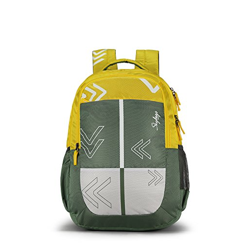 Skybags Bingo Plus 35.9856 Ltrs Green School Backpack (SBBIP04GRN)
