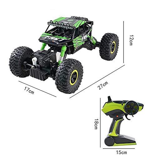 TwoCC Drone télécommande voiture de jouet avion, 4Wd Rc camion véhicule tout-terrain 2.4G télécommande Buggy Crawler Car (Vert)