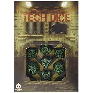 Q-Workshop QWOTEC15 Tech Dice Green/Black 7″ Card Game