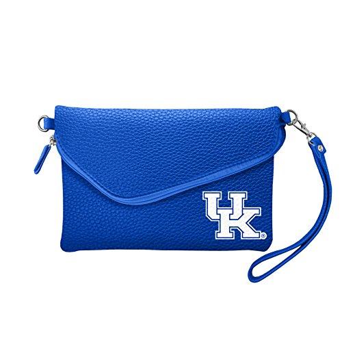 Ncaa Kentucky Wildcats Leather Football - NCAA Kentucky Wildcats Pebble Fold Over Crossbody Purse