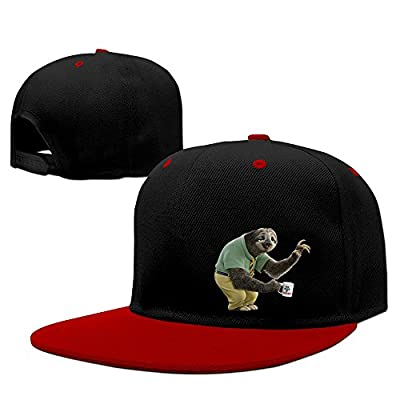 Luxir Unisex Zootopia Flash The Sloth Baseball Caps Red - Sloth Caps