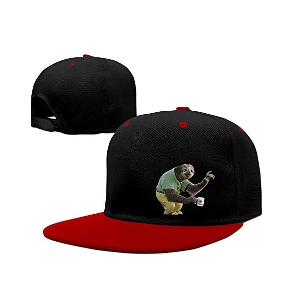 Luxir Unisex Zootopia Flash The Sloth Baseball Caps Red -