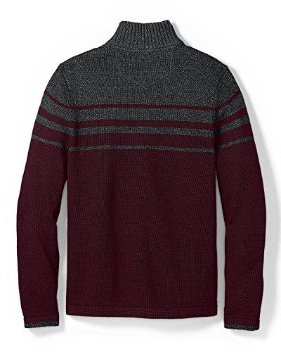 Eddie Bauer Heren Handtekening Katoen Bont 1/4-zip Mock Sweater Marine (blauw)