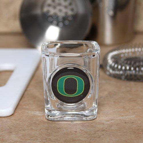 Oregon Logo Square (Great American 8900622920 2 oz. Oregon Ducks Square Shot Glass)