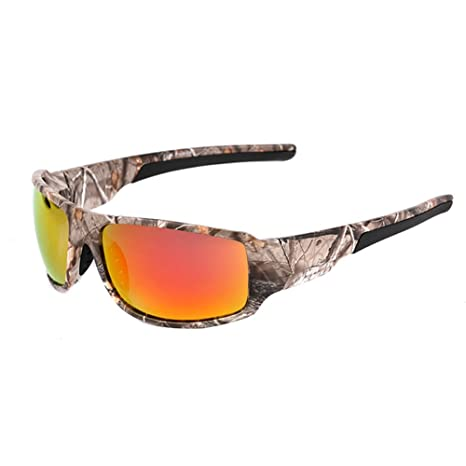 2bb66a0a6d4 Image Unavailable. Image not available for. Color  Foritone Camouflage  Sunglasses Polarized Sports Afield Camo Glasses for Men Women Fishing ...