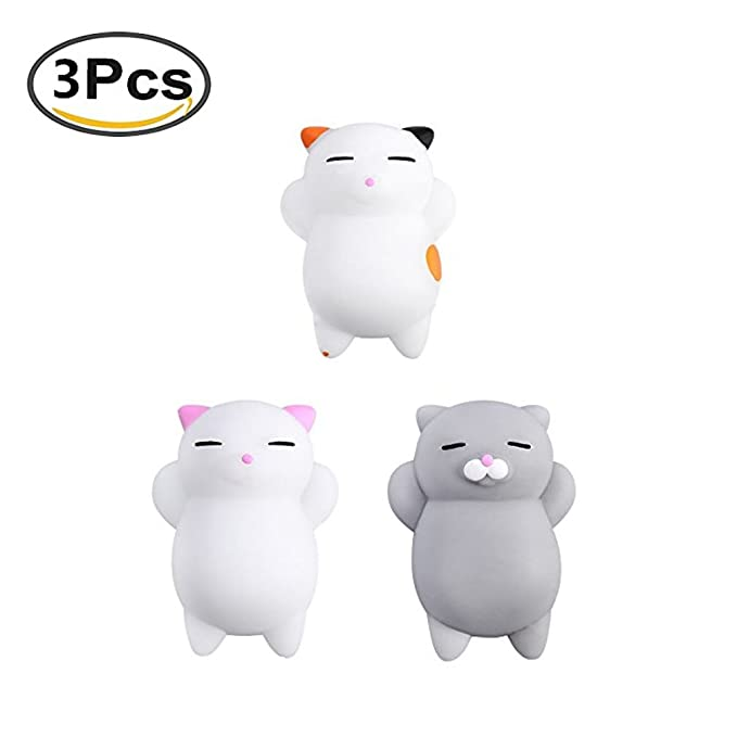 4 opinioni per Cute Cat Squishy Anti Stress Squishy Slow Rising Toys Squeeze Toy Stress Relief
