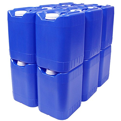 5 Gallon Stackable Water Containers  60 Total Gallons   Emergency Water Storage Containers  Bpa Free  High Density Polyetholene