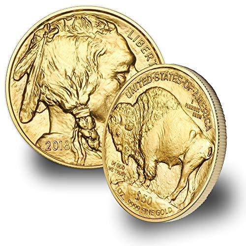 2018-1oz American Gold Buffalo Coin $50 Brilliant Uncirculated (1 Oz Fine Gold Coin 50 Dollars)