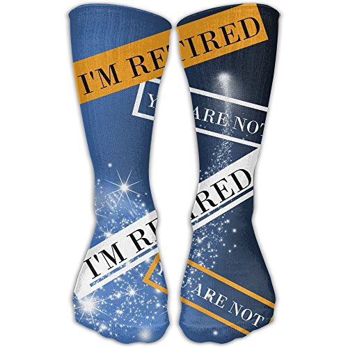 I'm Retired You Are Not Retirement Gift Colorful Fashion Knee High Socks Knee Sexy