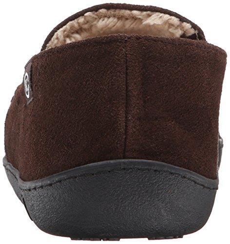 Chocolate ISOTONER Men's Flat On Suede Slip Leather UxYdAznx