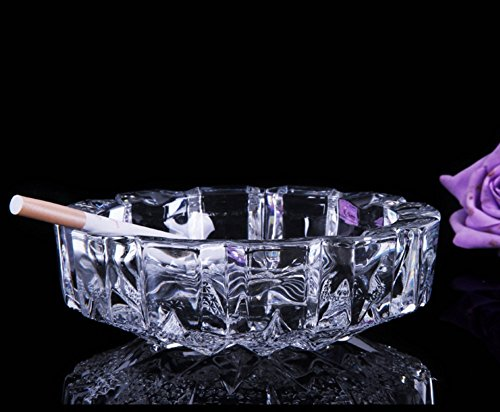 Transparent glass ashtray / creative home decoration / European style / holiday gift