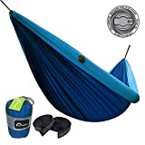 ALPRANG 2018 UPGRADE Inflatable Hammock, Portable Foldable Nylon Hammock with Tree Hanging Straps- The Best Double Hammock for Camping, Hiking, Beach, Travel, Backpacking (dark blue)