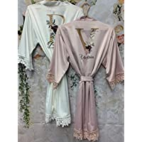 Bridesmaid Proposal Gift Lace Bridal Robes Bachelorette Party Wedding Bridal Shower