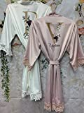 Bridesmaid Proposal Gift Lace Bridal Robes Bachelorette Party Wedding Bridal Shower