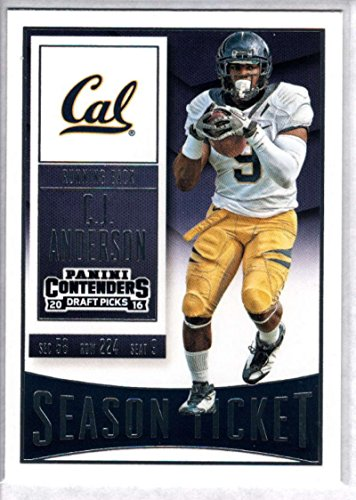 2016 Contenders Draft Picks Football Season Ticket #15 C.J. Anderson Cal Golden Bears Official NCAA Trading Card made by -