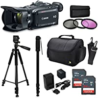 Canon XA30 HD Professional Video Camcorder + Accessory Kit with 128GB Memory + Tripod + Monopod + Bag + Extra Battery +