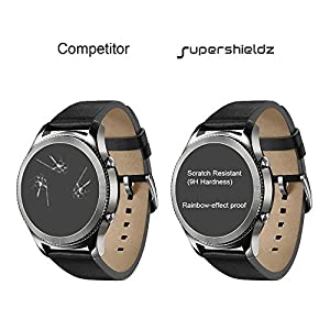 [2-Pack] Supershieldz for Apple Watch 42mm (Series 3/2/1) Tempered Glass Screen Protector, [Full Cover][3D Curved Glass] Anti-Scratch, Bubble Free, Lifetime Replacement Warranty (Black) from Supershieldz
