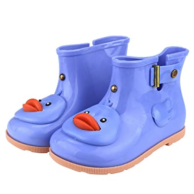 7984abb88e135c Newborn Girls Boys Shoes HEHEM Infant Kids Children Baby Cartoon Duck  Rubber Waterproof Warm Boots Rain