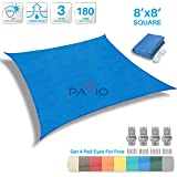 #1: Patio Paradise Sun Shade Sail Square Canopy
