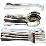 18 Pieces Silver Look Plastic Kids Baby Toddler Children Cutlery Set - Ideal for home, school or lunchboxes by Sch??ne Homes (UK)