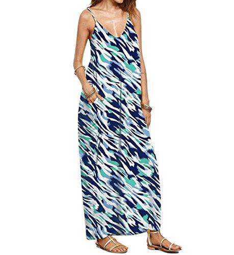 DINGANG - Vestido - sujetador bandeau - Sin mangas - para mujer Multicolor7