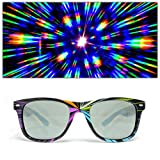 GloFX Starburst Diffraction Glasses - Tinted Rave Eyes Party Club 3D Trippy