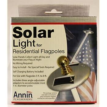 Amazon Com Annin Flagmaker 2804 Solar Led Pole Light