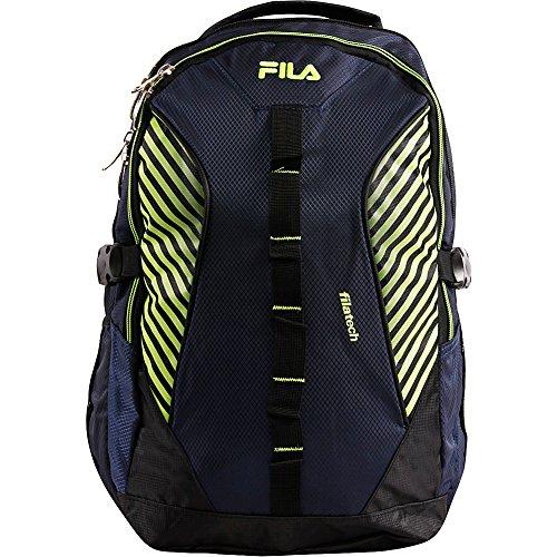 Fila Hunter Laptop Backpack, BLUE/NEON, One Size