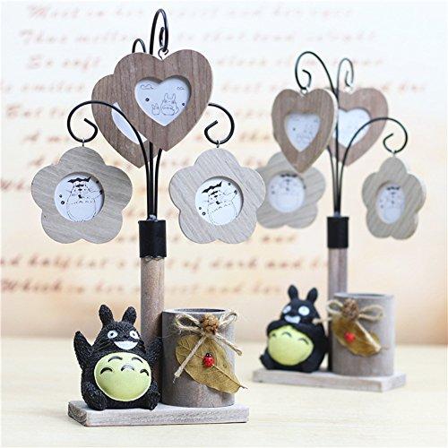 YOURNELO Creative Totoro Pen Pencil Holder Photo Frame Desk Organizer Accessories - Photo Holder Pencil Frame