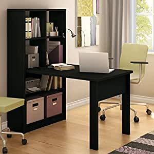 South Shore Annexe Work Table and Storage Unit Combo Black