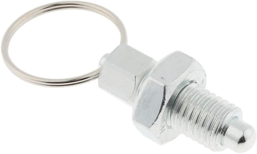 Non Lock-Out Spring Indexing Plunger with Pull Ring 5 Sizes for Choose Stainless Steel M6 Flat