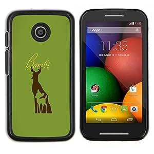 LECELL--Funda protectora / Cubierta / Piel For Motorola Moto E -- Bambe ciervos --