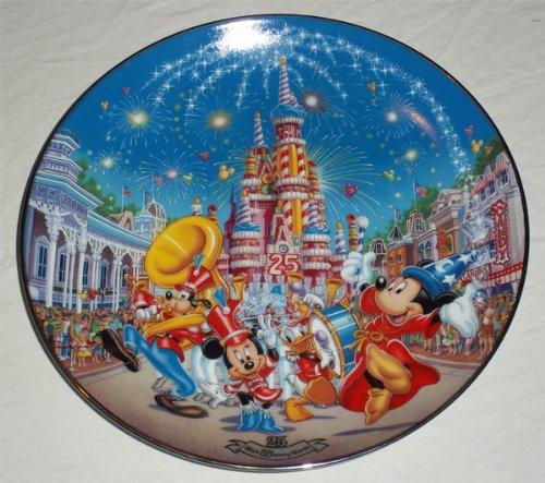 World Plate Disney Walt (Bradford Exchange Walt Disney World 25th Anniversary a Birthday Celebration Plate)